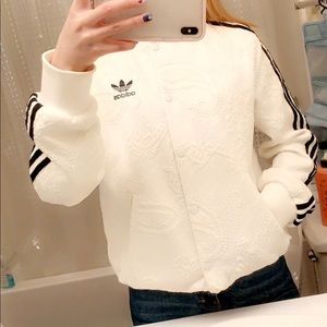 Adidas lace detail jacket